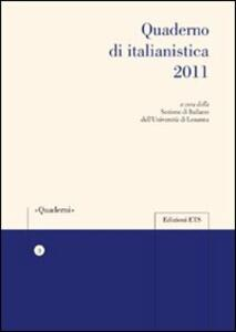 Quaderno di italianistica 2011