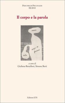 Il corpo e la parola - copertina