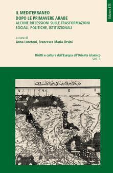 Il Mediterraneo dopo le primavere arabe - Anna Loretoni,Francesca M. Orsini - copertina