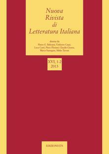 Nuova rivista di letteratura italiana - copertina
