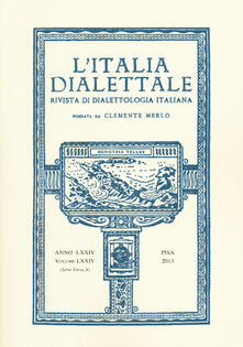 Equilibrifestival.it L' Italia dialettale. Rivista di dialettologia italiana. Vol. 74 Image