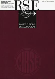 Writersfactory.it Rivista di storia dell'educazione (2014). Vol. 1 Image