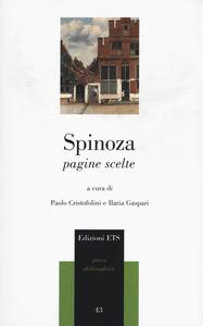 Libro Pagine scelte Baruch Spinoza