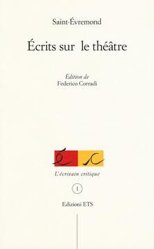 Écrits sur le théâtre - Saint-Évremond - copertina