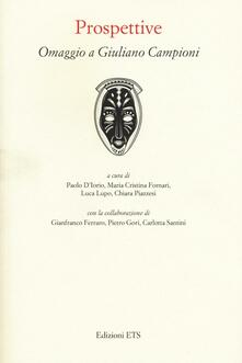 Prospettive. Omaggio a Giuliano Campioni - copertina