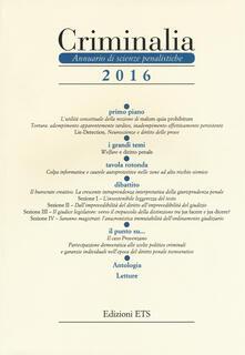Charun.it Criminalia. Annuario di scienze penalistiche (2016). Vol. 11 Image