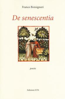 De senescentia - Franco Bonsignori - copertina