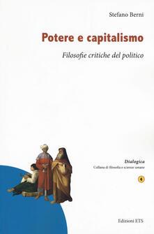 Mercatinidinataletorino.it Potere e capitalismo. Filosofie critiche del politico Image