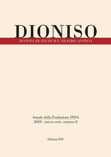 Premioquesti.it Dioniso. Rivista di studi sul teatro antico. Vol. 8 Image