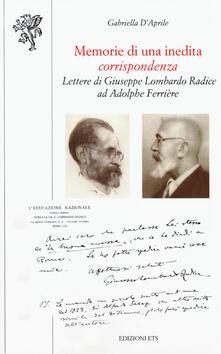 Lpgcsostenible.es Memorie di una inedita corrispondenza. Lettere di Giuseppe Lombardo Radice ad Adolphe Ferrière Image