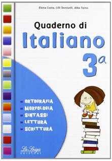 Fondazionesergioperlamusica.it Quaderno di italiano. Per la 3ª classe elementare. Vol. 3 Image