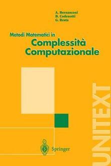 Metodi matematici in complessità computazionale - copertina