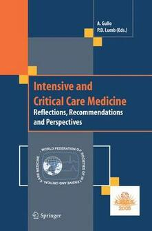 Intensive and critical care medicine. Reflections, recommendations and perspectives - copertina