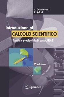 Introduzione al calcolo scientifico - Alfio Quarteroni,Fausto Saleri - copertina