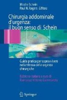 Chirurgia addominale d'urgenza: il buon senso di Schein - copertina