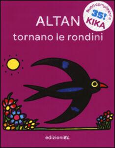 Foto Cover di Tornano le rondini, Libro di Tullio F. Altan, edito da EL