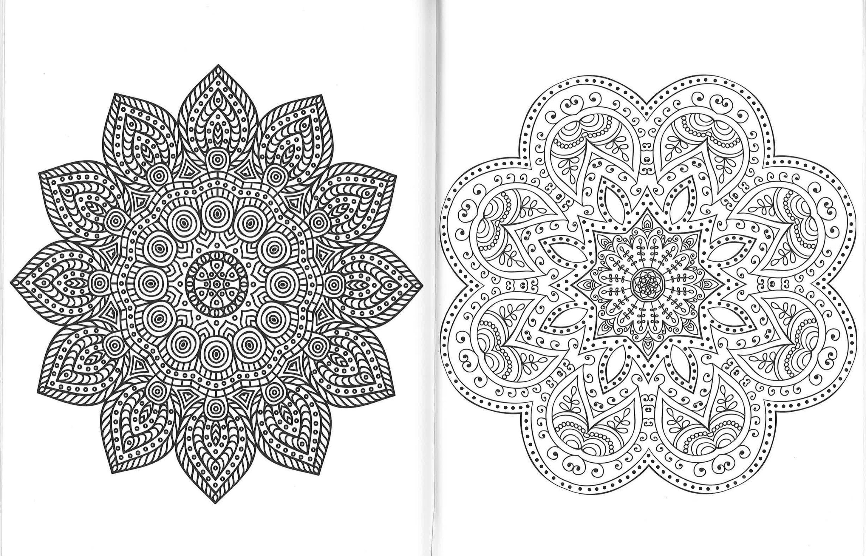 Mandala armonia per lo spirito 100 disegni zen da for Mandala da colorare con animali
