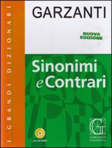 Libro Dizionario dei sinonimi e contrari. Con CD-ROM