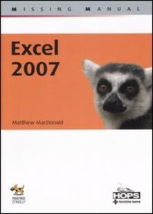 Excel 2007 -  Matthew MacDonald - copertina