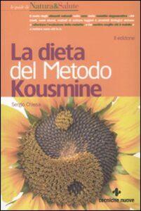 Libro La dieta del metodo Kousmine Sergio Chiesa