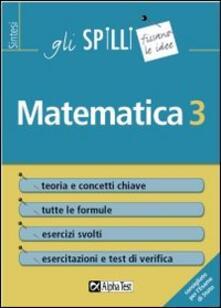Camfeed.it Matematica. Vol. 3 Image
