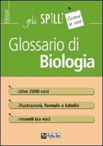 Libro Glossario di biologia Valeria Balboni
