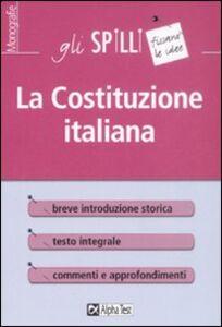 Libro La costituzione italiana Massimo Drago