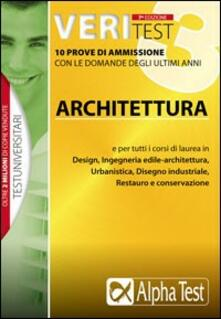 Ristorantezintonio.it Veritest. Vol. 3: 10 prove di ammissione con le domande degli ultimi anni: architettura. Image