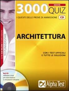 Voluntariadobaleares2014.es Tremila quiz. Anno accademico 2009-2010. Per le prove di ammissione a: architettura. Con CD-ROM Image