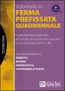 Filippodegasperi.it Volontario in ferma prefissata quadriennale. Manuale Image