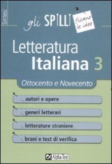 Antondemarirreguera.es Letteratura italiana. Vol. 3: Ottocento e Novecento. Image