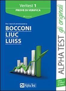 Winniearcher.com Veritest. Vol. 1: Prove di verifica per i test di ammissione a Bocconi, Liuc, Luiss. Image