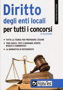 Libro Diritto degli enti locali per tutti i concorsi Silvia Caciotti
