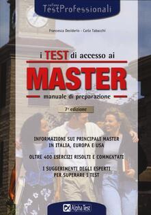 Winniearcher.com I test di accesso ai master. Manuale di preparazione. Informazioni sui principali master in Italia, in Europa e negli Usa Image