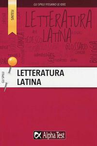 Foto Cover di Letteratura latina, Libro di Sabrina Torno, edito da Alpha Test