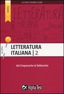 Daddyswing.es Letteratura italiana. Vol. 2: Dal Cinquecento al Settecento. Image