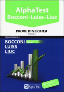 Libro Alpha Test. Bocconi Luiss Liuc. Prove di verifica