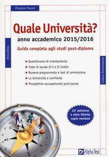 Antondemarirreguera.es Quale università? Anno accademico 2015-2016. Guida completa agli studi post-diploma Image