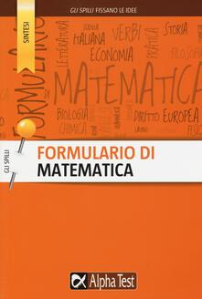 Milanospringparade.it Formulario di matematica Image