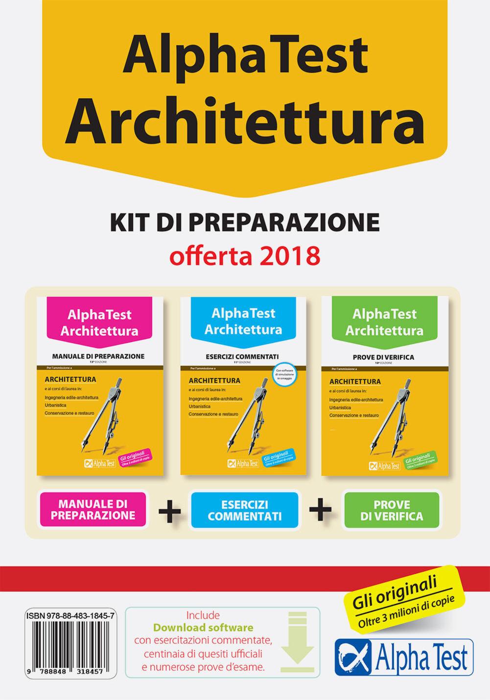 Alpha Test Architettura kit di preparazione 2017