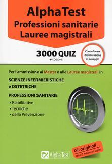 Daddyswing.es Alpha Test. Professioni sanitarie. Lauree magistrali. 3000 quiz. Con software di simulazione Image