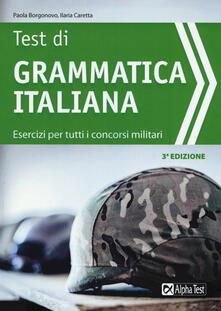 Radiospeed.it Test di grammatica italiana. Esercizi per tutti i concorsi militari Image