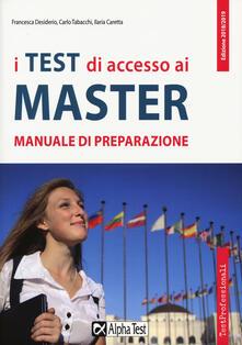 I test di accesso ai master. Manuale di preparazione.pdf