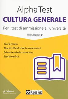 Promoartpalermo.it Alpha Test cultura generale. Per i test di ammissione all'università Image