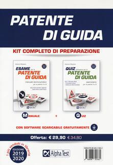 Patente di guida. Kit completo di preparazione: Manuale-Eserciziario. Con software di simulazione - Antonio Messina - copertina