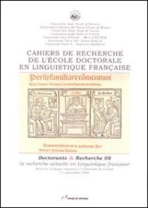 Foto Cover di Cahiers de recherche de l'École doctorale en linguistique, Libro di  edito da Lampi di Stampa