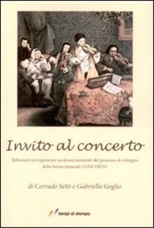 Warholgenova.it Invito al concerto. Riflessioni ed esperienze su alcuni momenti del processo di sviluppo della forma musicale concerto Image