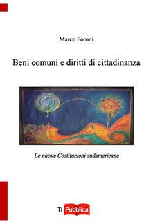 Beni comuni e diritti di cittadinanza