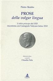 Prose della volgar lingua. L'aeditio princeps del 1525