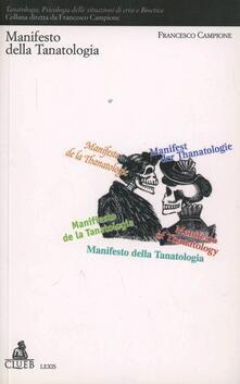 Manifesto della tanatologia - Francesco Campione - copertina